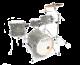 Legend Travel cobalt 4 piece Birch drum kit