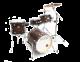Legend Travel Mahogany 4 piece birch drum kit